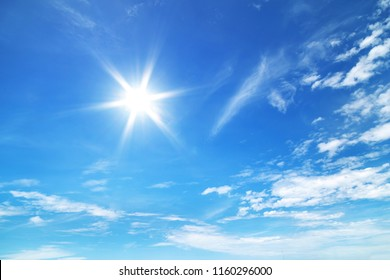 sun in the blue sky