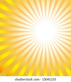 Sun burst graphic with bright rays of color