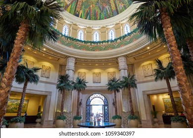 Sun City, South Africa - 03.13.2018: Main lobby at The Palace of the Lost City Hotel Resort