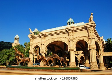 SUN CITY, SOUTH AFRICA - JANUARY 01, 2008: main entrance in luxury Palace of the Lost City in Sun City, South Africa.