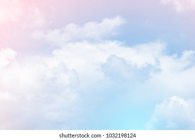 sun and cloud background with a pastel color