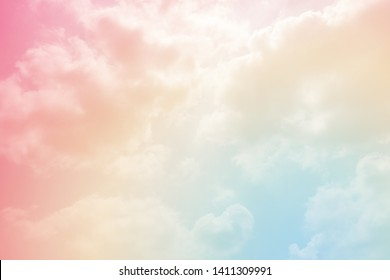 sun and cloud background with a pastel colour
