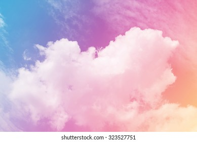 sun and cloud background with a pastel violet colored gradient.