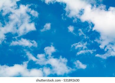 sun clouds. blue sky.