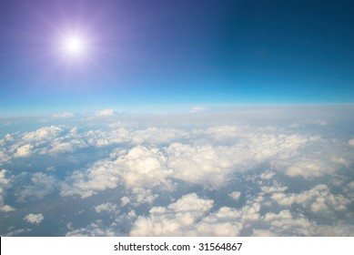 Sun and clouds can be used for background