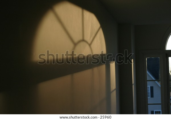 the Sun coming through a window.