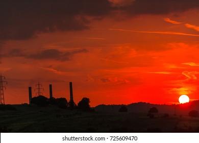Sun disk at sunset