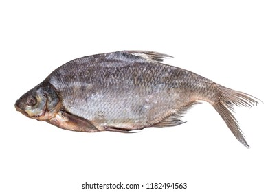 Sun dried bream on a white background