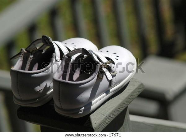 Sun dried shoes