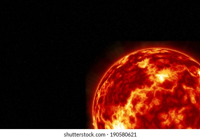 Sun with Fiery Explosions, Thermal Winds and Swirling Turbulence.Elements of this image furnished by NASA