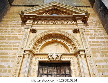 The Sun Gate, Collegiate church of Our Lady of the Assumption in Osuna, famous town in the province of Sevilla, Andalusia, Spain