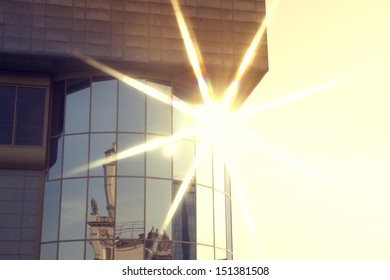 sun glare in the window