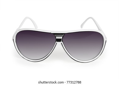 Sun glasses on the white backgrounds