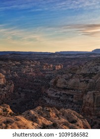Sun goes down over the Grand Staircase-Escalante Monument in Utah.