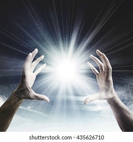 Sun in the hands