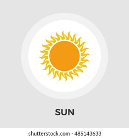 Sun icon isolated on the white background.
