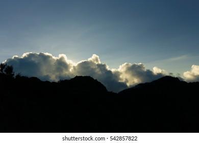 Sun light on the clouds
