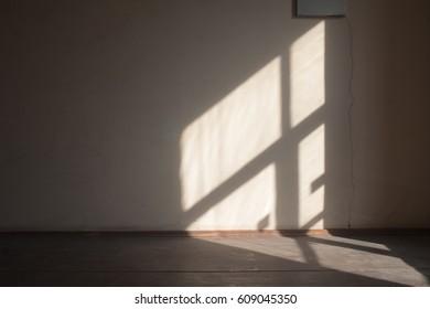 Sun light on the wall