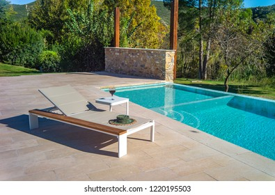 sun lounge by the pool