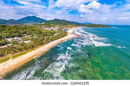 Sun and Moon Bay or Riyue Bay Tourism Area, a Site for Surfing Events in Wanning, Hainan, China