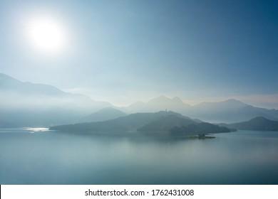 Sun Moon Lake in the morning