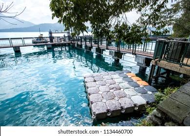Sun Moon Lake National Scenic Area, Taiwan - March1, 2018: Jhongshan Rd., Yuchih Township, Nantou County