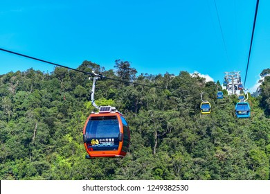 Sun Moon Lake,Taiwan-22 Nov, 2018 :  Beautiful scenic Gondola cable car service that connects Sun Moon Lake with the Formosa Aboriginal and Culture Village theme park,Taiwan