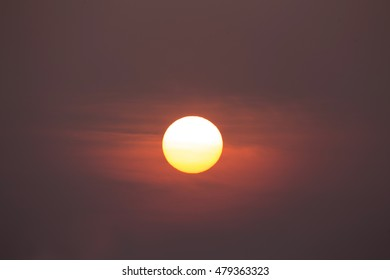 Sun in the morning.