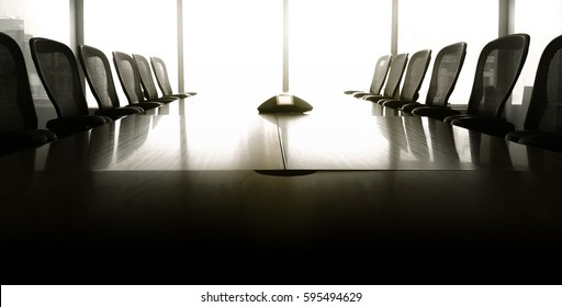 Sun up in the  morning  with business conference room/ For  business grow concept