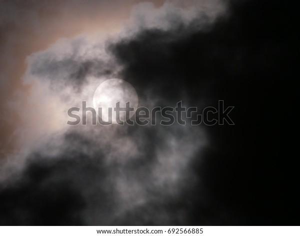 Sun on a cloudy day