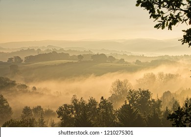 Sun on early morning mist
