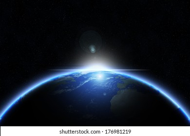 Sun on earth - earth texture by NASA.gov
