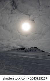 Sun over alps un Italy, Livigno