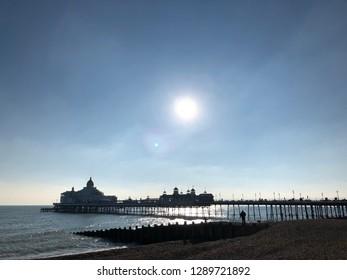 Sun over Eastbourne Pier