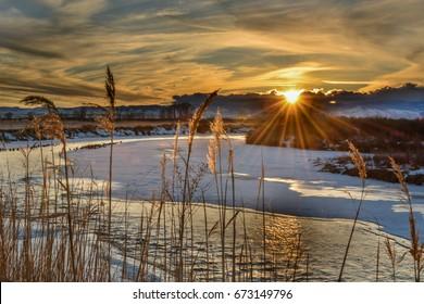 Sun over Little Wind River