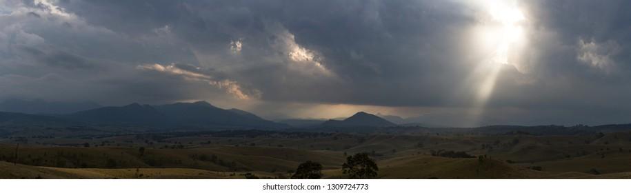 Sun pierces storm clouds in Queensland