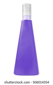 Sun protecting cream purple bottle, isolated on white background