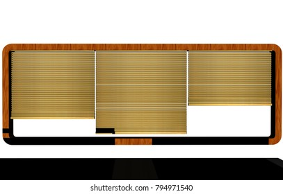 Sun protection curtain 3D rendering