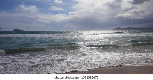 sun reflection at the sea