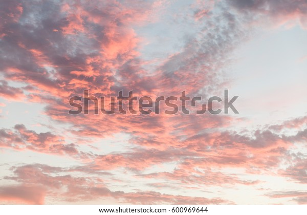 Sun rise with glowing clouds
