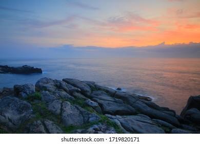 Sun rise of Longdong-oceanpark, Taipei Taiwan