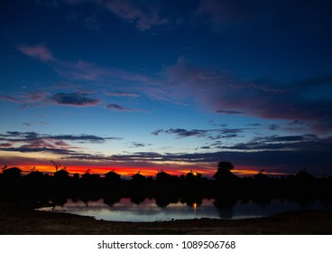 Sun rise over the north-eastern part of Botswana during summer