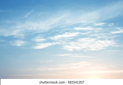 Sun rise and sun set sky with cloud