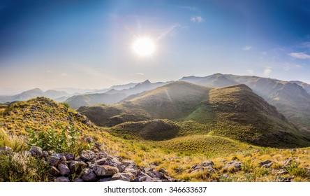 Sun rise veiw Khyber Pass in Northwest Pakistan