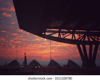 Sun Rise view from Thai Airport