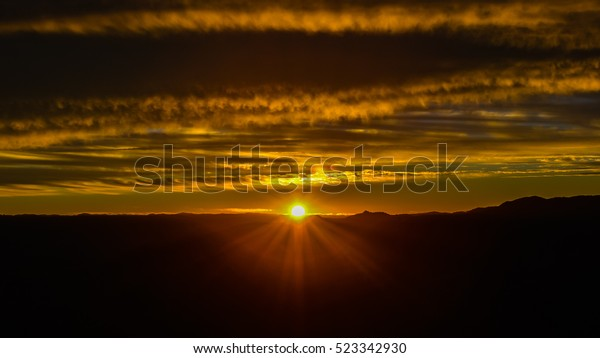 Sun Rises Over the Copper Canyon - Sierra Madre Occidental, Chihuahua, Mexico