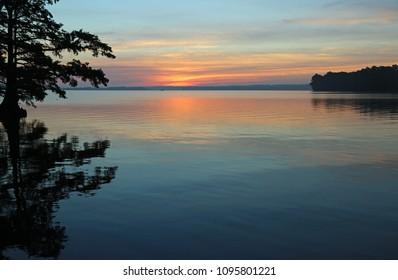 Sun is rising on Reelfoot Lake - Reelfoot Lake State Park, Tennessee