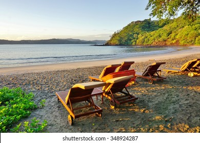 Sun rising over the Playa Blanca beach in Peninsula Papagayo in Guanacaste, Costa Rica