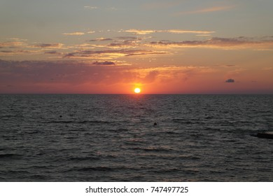 sun sea sunset