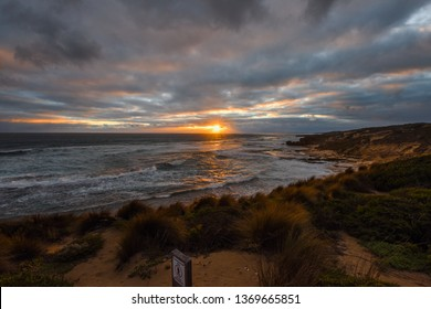 Sun set at Blairgowrie Ocean Beach Mornington peninsula